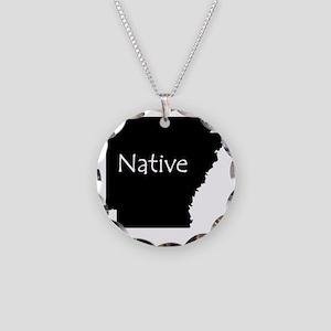 ArkansasNative-light Necklace Circle Charm