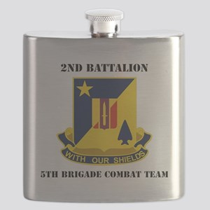 2nd Bn 5th Brigade Combat Team with Text Flask