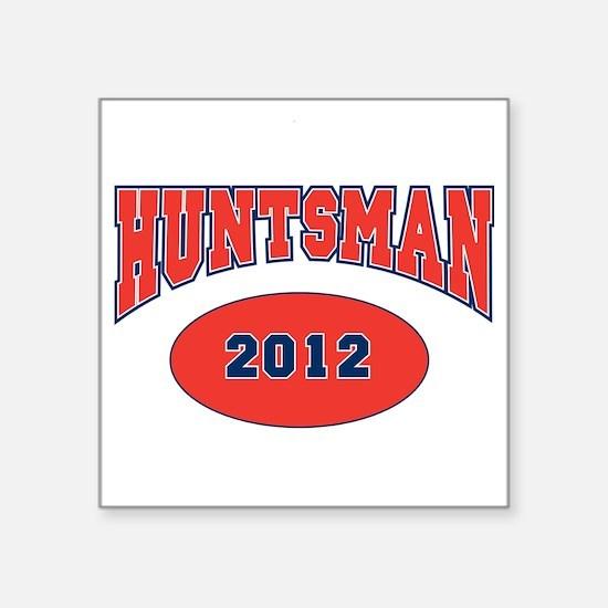 "HUNTSMAN RED FONT Square Sticker 3"" x 3"""