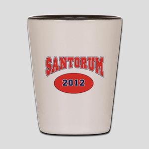 SANTORUM RED FONT Shot Glass