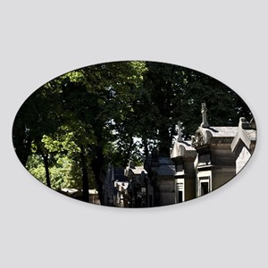 Tombs in Cimetiere du Pree Lachaise Sticker (Oval)
