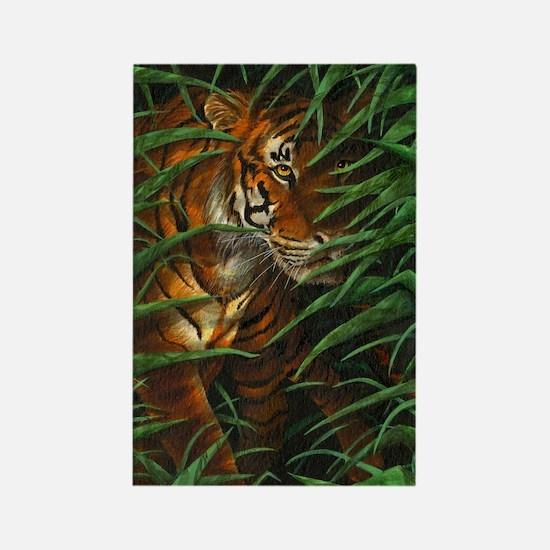 Tiger Stalking (low res) Rectangle Magnet
