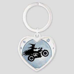 witch-biker-moon-T Heart Keychain