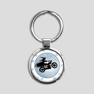 witch-biker-moon-T Round Keychain