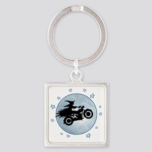 witch-biker-moon-T Square Keychain