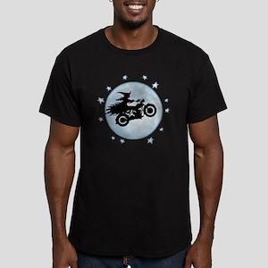 witch-biker-moon-T Men's Fitted T-Shirt (dark)