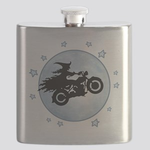 witch-biker-moon-T Flask