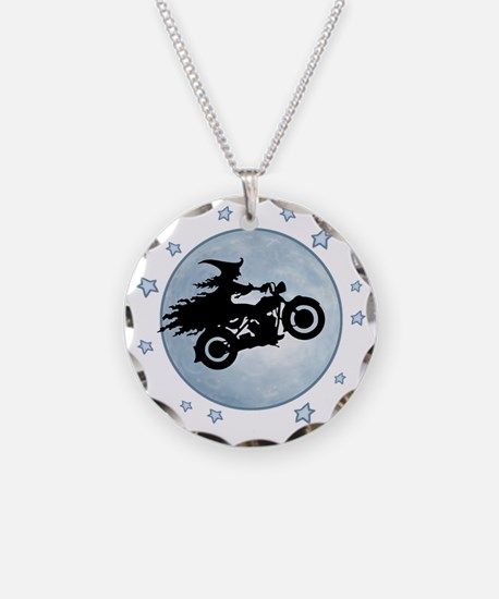 witch-biker-moon-T Necklace
