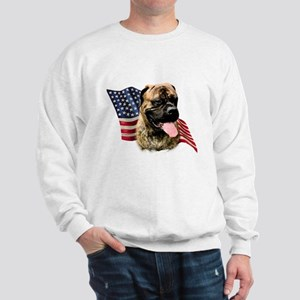 Bullmastiff Flag Sweatshirt