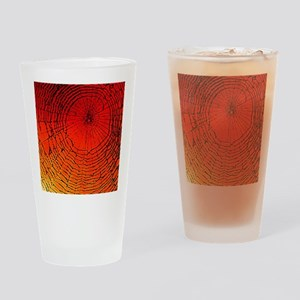 Spider Web Art Drinking Glass