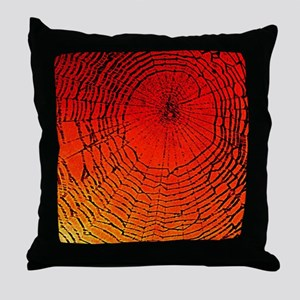 Spider Web Art Throw Pillow