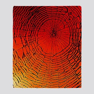 Spider Web Art Throw Blanket