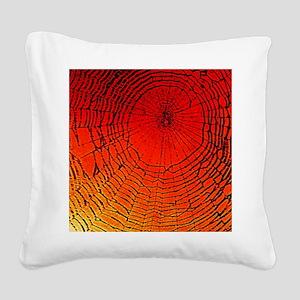 Spider Web Art Square Canvas Pillow