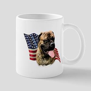 Bullmastiff Flag Mug