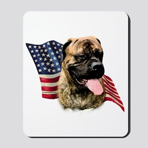 Bullmastiff Flag Mousepad