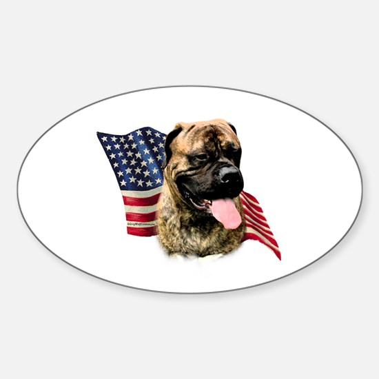 Bullmastiff Flag Oval Decal