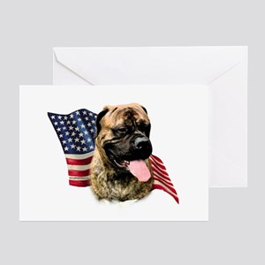 Bullmastiff Flag Greeting Cards (Pk of 10)