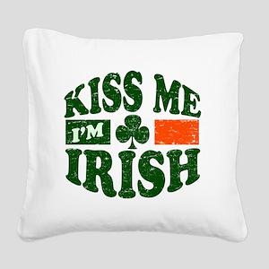 Kiss Me Im Irish 9884736 Square Canvas Pillow