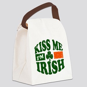 Kiss Me Im Irish 9884736 Canvas Lunch Bag