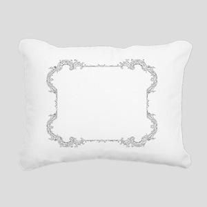 Mischief Managed white v Rectangular Canvas Pillow