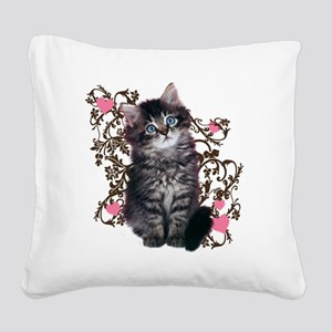 9976452442Floralkitty Square Canvas Pillow
