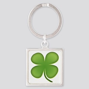 7736fourleafclover388 Square Keychain