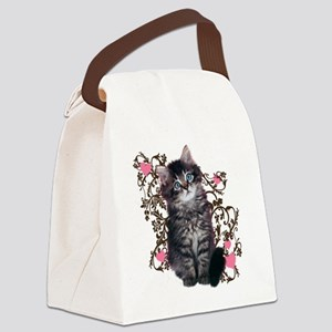 9976452442Floralkitty Canvas Lunch Bag