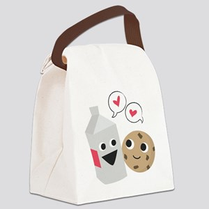 Milk  Cookie Love Canvas Lunch Bag