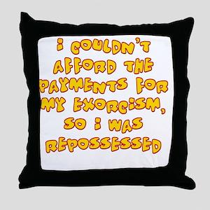 repossessed Throw Pillow