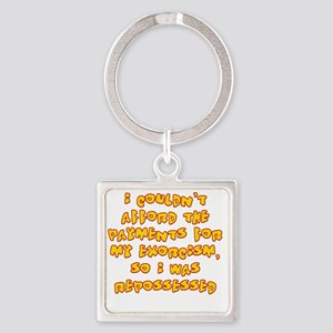 repossessed Square Keychain