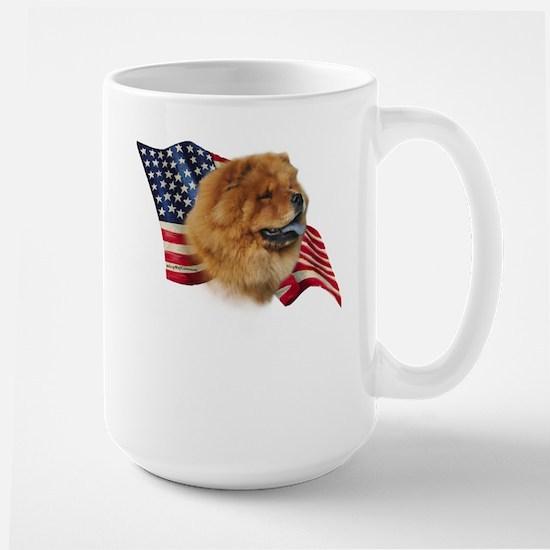 Chow Chow Flag Large Mug