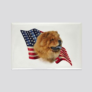 Chow Chow Flag Rectangle Magnet