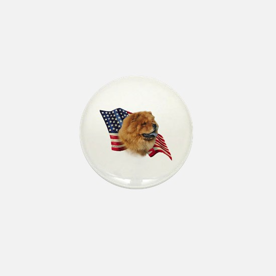 Chow Chow Flag Mini Button
