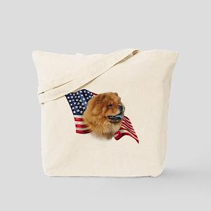 Chow Chow Flag Tote Bag