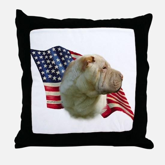 Shar-Pei Flag Throw Pillow