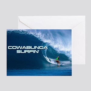Calender Surfing 4 Greeting Card