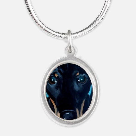 _MG_dog2b Silver Oval Necklace