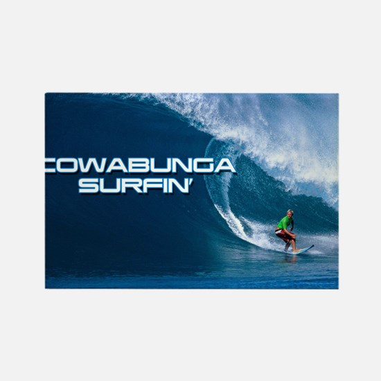 Calender Surfing 4 Rectangle Magnet