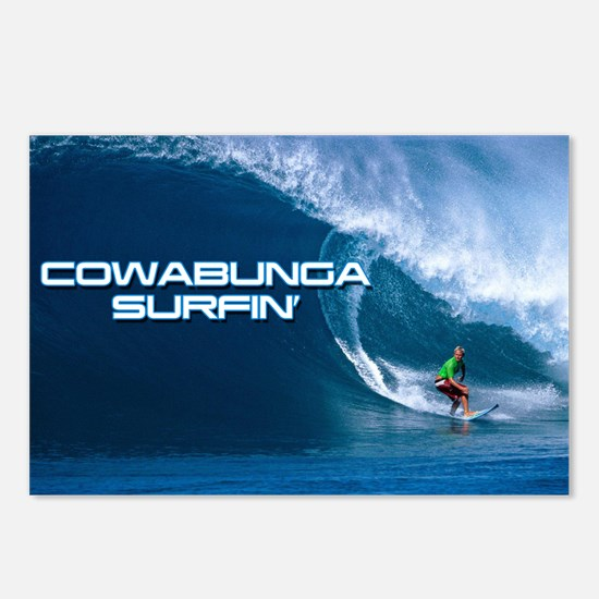 Calender Surfing 4 Postcards (Package of 8)