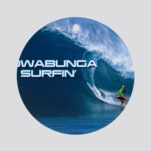 Calender Surfing 4 Round Ornament