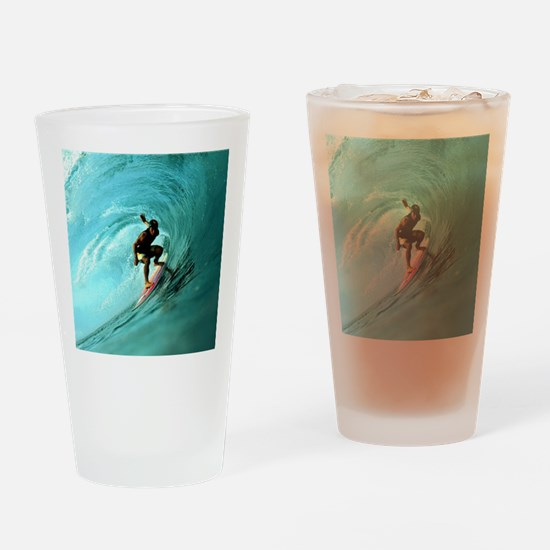 Calender Surfing 2 Drinking Glass