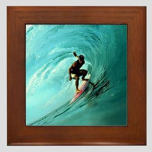 Calender Surfing 2 Framed Tile