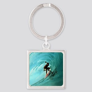 Calender Surfing 2 Square Keychain
