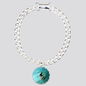 Calender Surfing 2 Charm Bracelet, One Charm