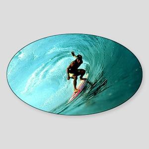Calender Surfing 2 Sticker (Oval)