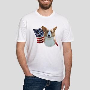 Corgi Flag Fitted T-Shirt