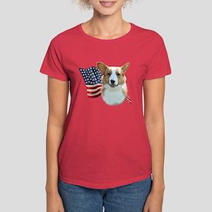 Corgi Flag Women's Dark T-Shirt