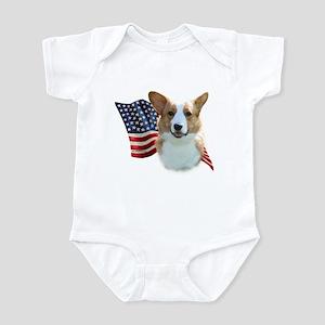 Corgi Flag Infant Bodysuit