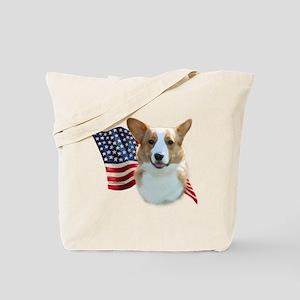 Corgi Flag Tote Bag