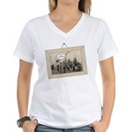We're with the Band Women's V-Neck T-Shirt